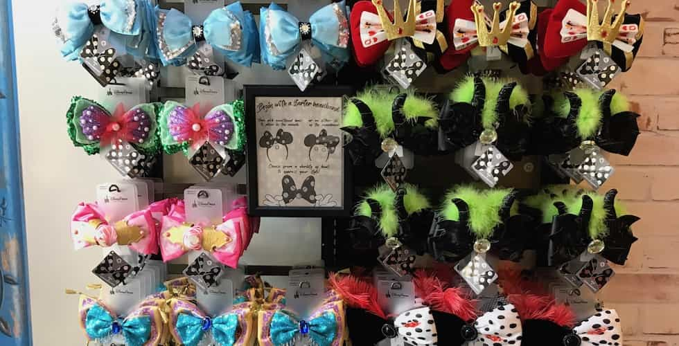 cbdfd80a2521fb Currently, the Minnie ear headbands with interchangeable ears are only  available at D-Living at Disney Springs.