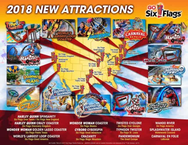 Six Flags announces every new attraction coming in 2018 for domestic ...