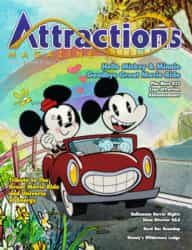 The cover of the Fall 2017 issue featuring Mickey and Minnie's Runaway Railway