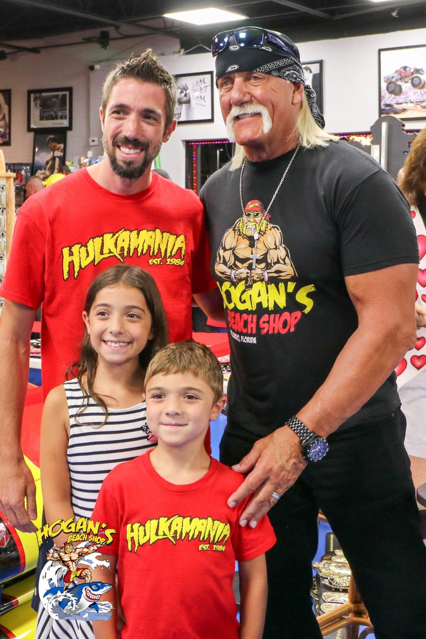 Wrestling Superstars Hulk Hogan And Jimmy Hart Greet Fans At Hogans