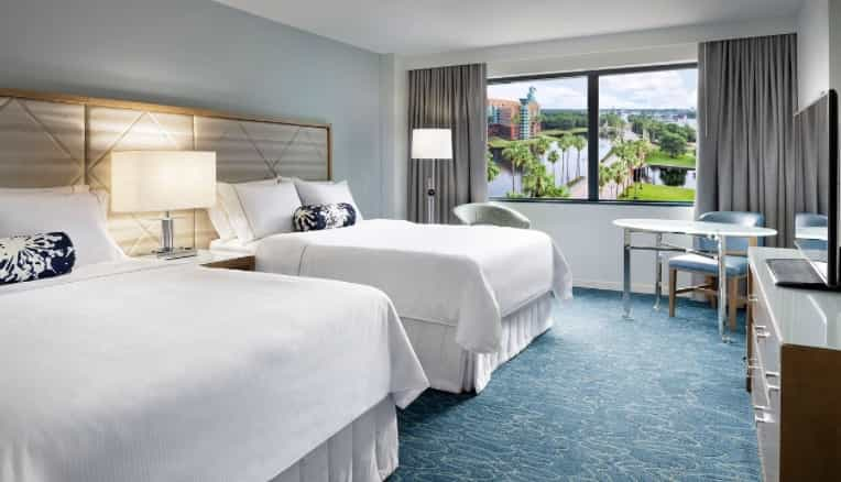 remodeled rooms at the Swan hotel