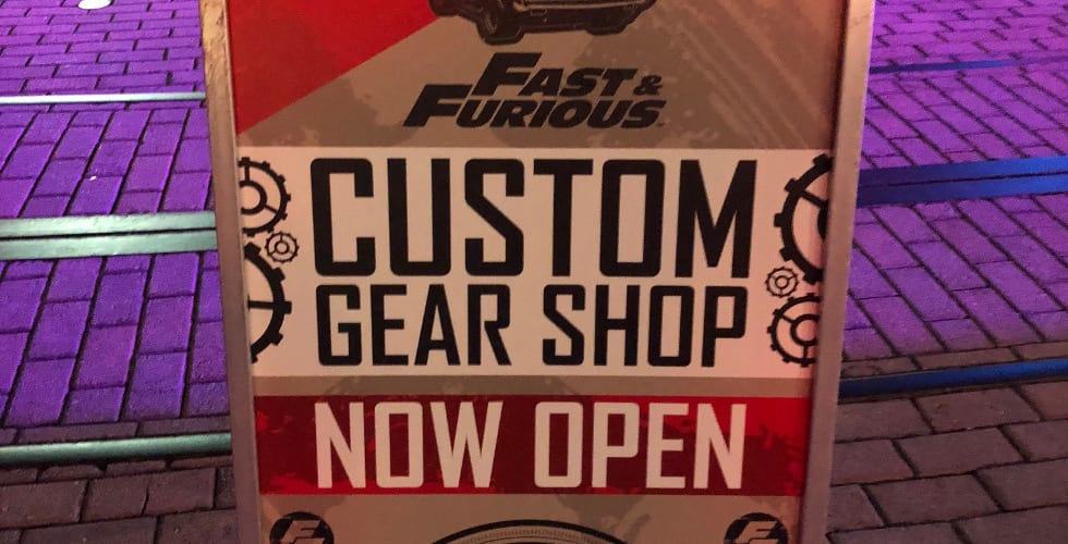 Fast & Furious Custom Gear Shop