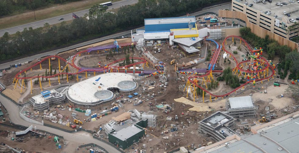Photo Update Disney S Gondolas Toy Story Land As Seen