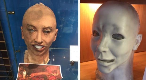 Ellen's animatronic face
