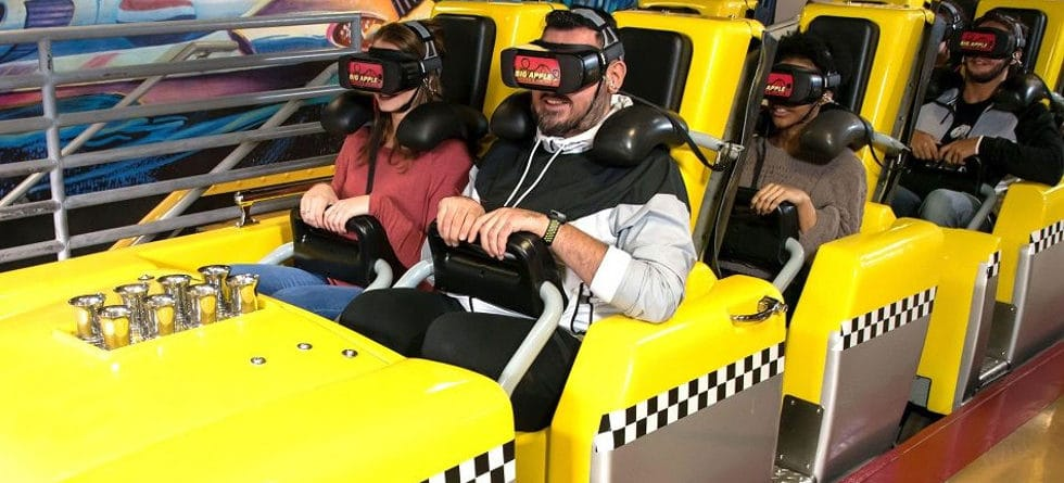 Las Vegas New York New York hotel debuts Big Apple Coaster Virtual Reality Experience on Feb 7.