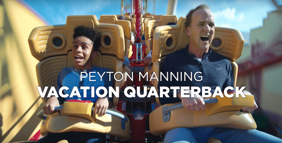 Peyton Manning is back -- as the 'vacation quarterback'