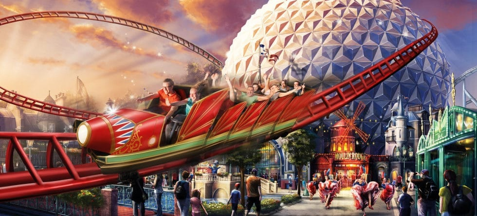 Europa-Park partners with Moulin Rouge to turn Eurosat into the CanCan Coaster