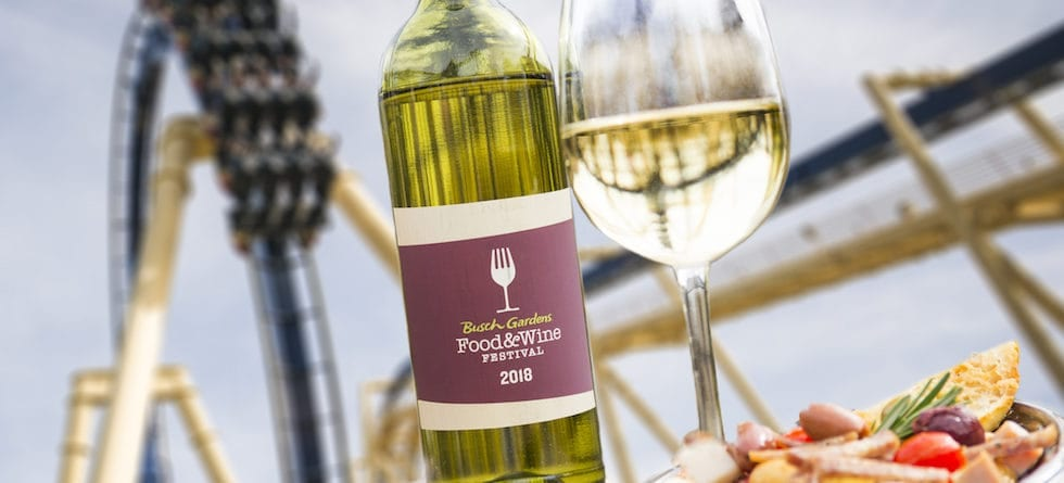 Busch Gardens fourth annual Food & Wine Festival returns this March