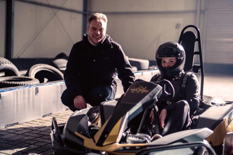 Michael Mack looping go-kart