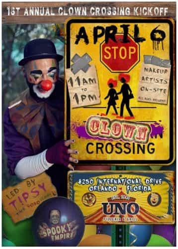 Spooky Empire clown walk