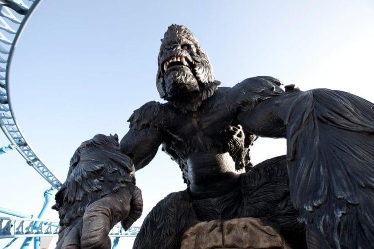 King Kong spinning coaster world's tallest animatronic