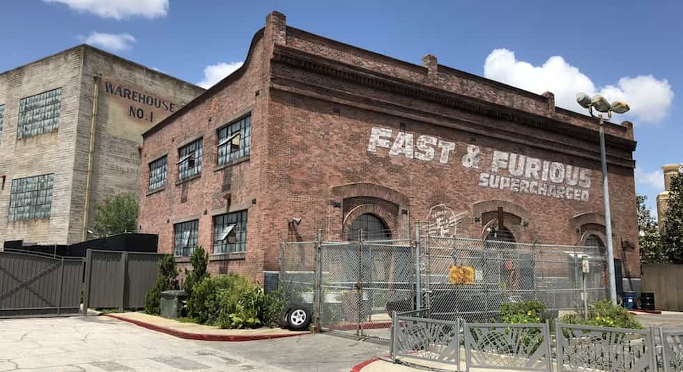 The exterior of Fast and Furious supercharged
