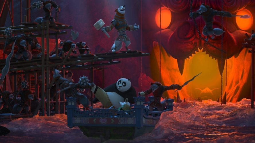 Kung Fu Panda in the new Dreamworks theater