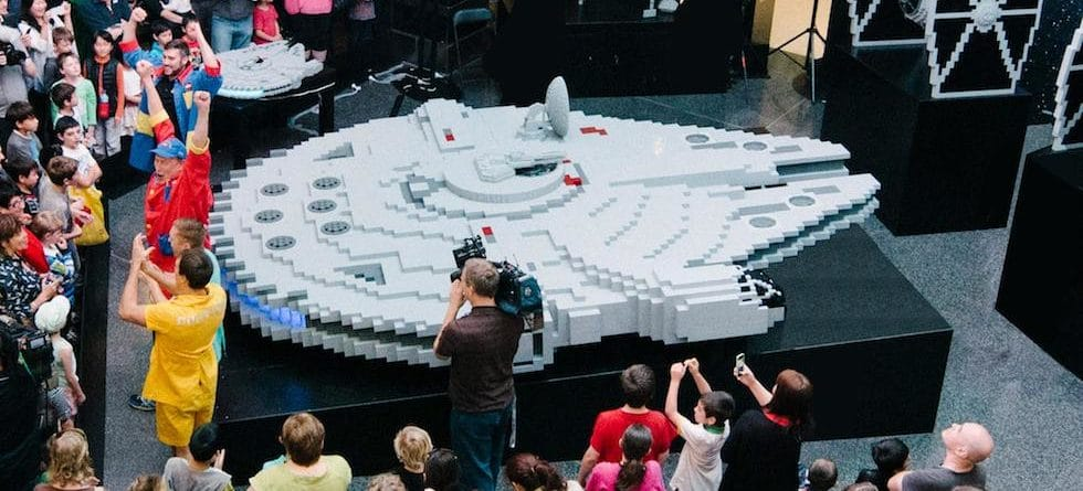 Build a Lego Millennium Falcon with Lego Star Wars Building Event at Disney Springs