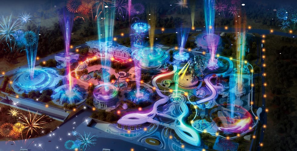 Oriental Science fiction Valley virtual reality theme park