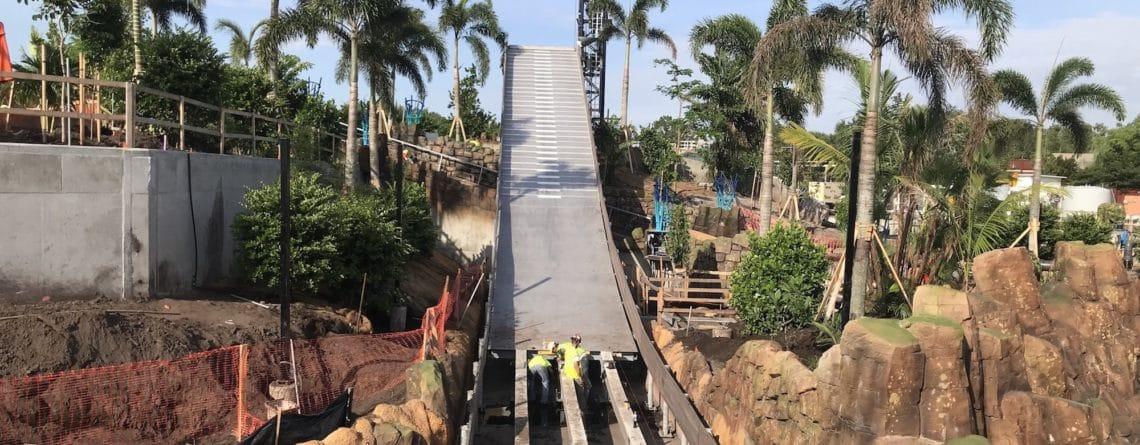 Photo/Video Update: Infinity Falls raft ride coming to life at SeaWorld Orlando