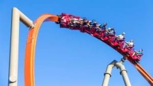 RailBlazer single rail steel coaster now open at California's Great America