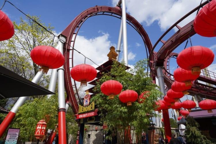 The Demon roller coaster
