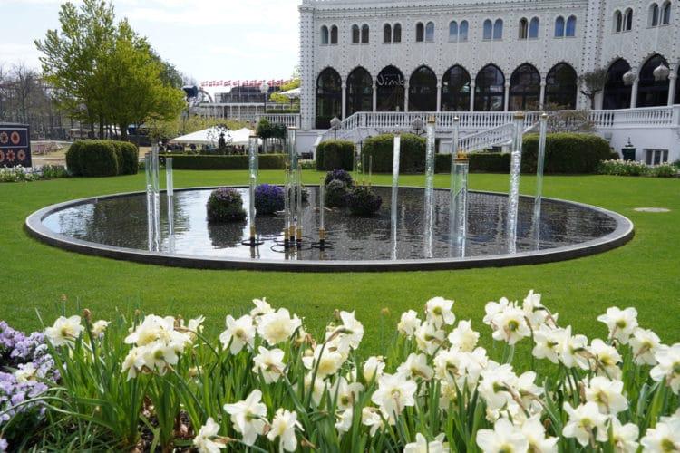 bubble fountain in Tivoli Gardens