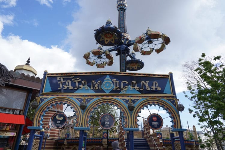 Fatamorgana ride in tivoli gardens