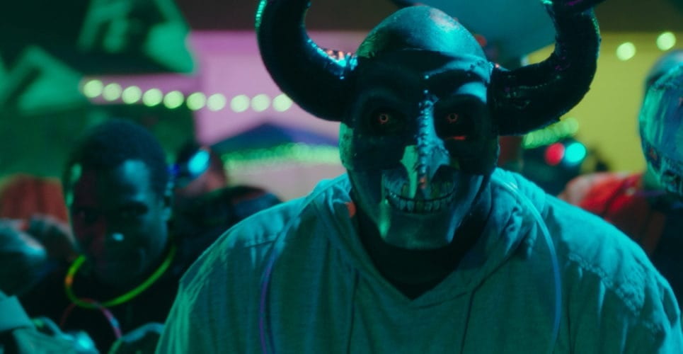 Guy in a scary mask from The First Purge.