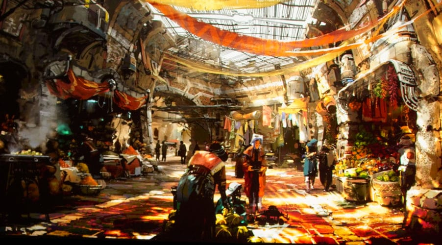 Concept art of speculated location