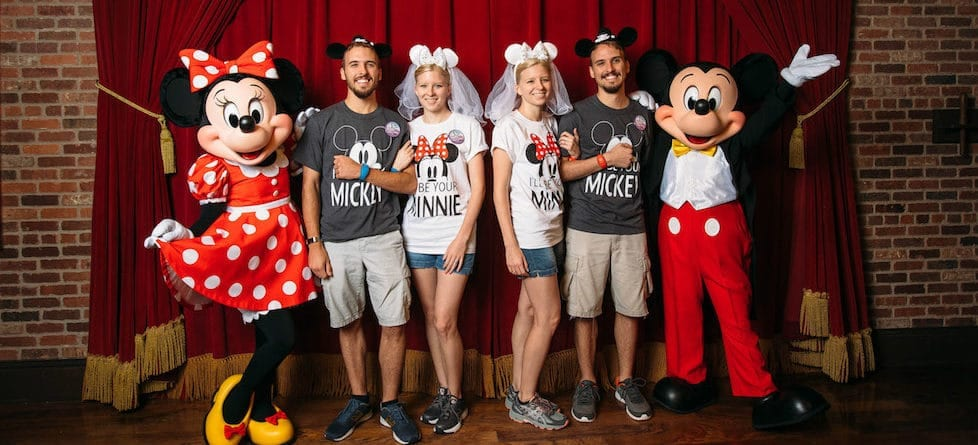 PHOTOS: Twin newlywed couples spend a day 'twinning' at Walt Disney World