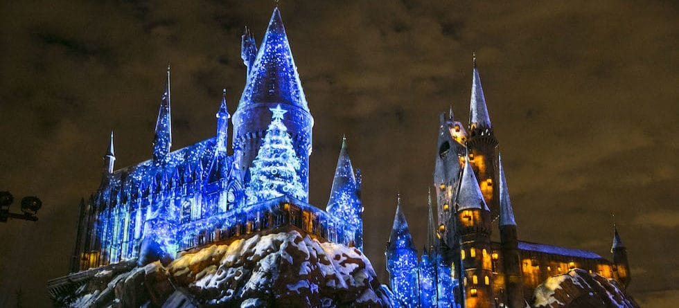 Snow will fall in The Wizarding World of Harry Potter this Christmas at Universal Studios Hollywood