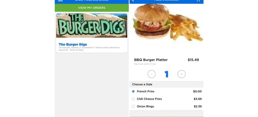 Universal Orlando Resort adds mobile ordering to official theme park app
