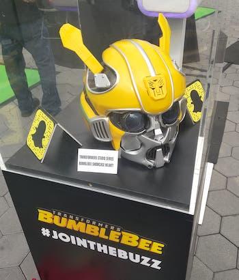 Bumblebee mask helmet