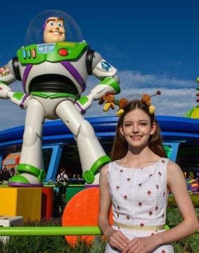 Mackenzie Foy in toy story land