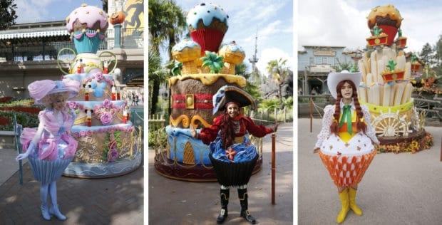 Enjoyable Photos Mickeys Giant Birthday Cakes Take Over Disneyland Paris Funny Birthday Cards Online Chimdamsfinfo