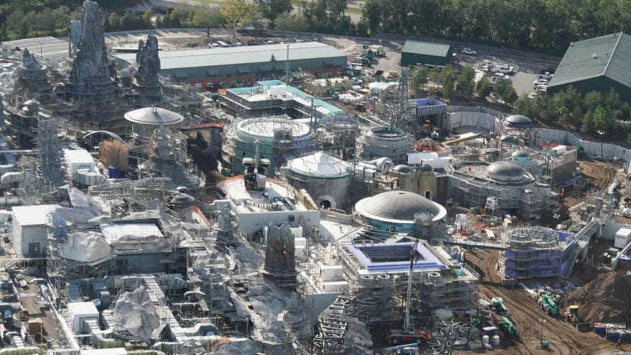 Construction overview, Star Wars Galaxy's Edge