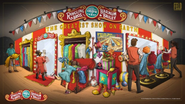 Feld Entertainment Ringling Bros circus interactive attraction