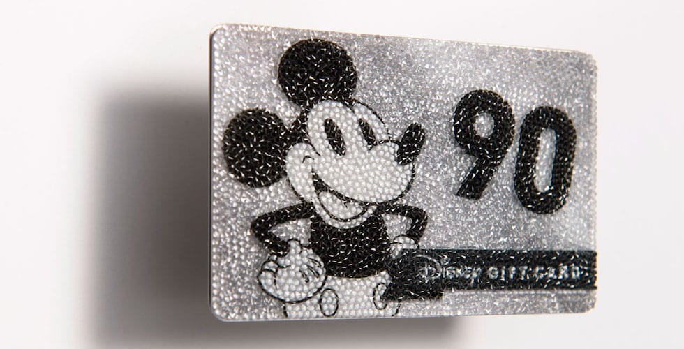 bf791f5f999b A Disney gift card covered in Swarovski crystals for the ultimate ...