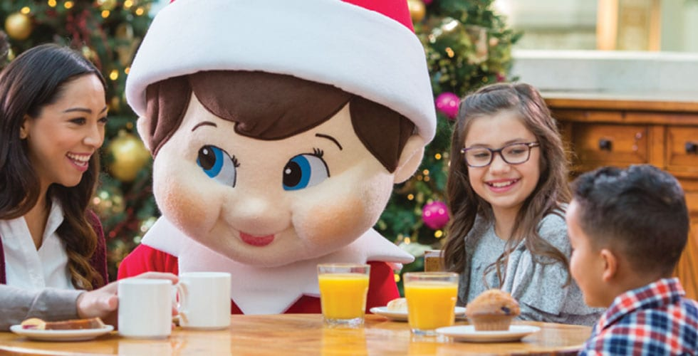Elf on the Shelf character breakfast