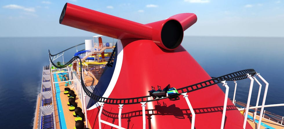 World's first cruise roller coaster coming to Carnival Cruise Line in 2020