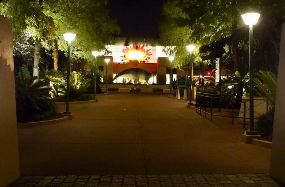 Dinosaur ride entrance