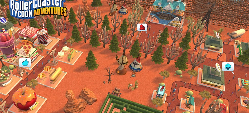 Build the theme park of your dreams with RollerCoaster Tycoon Adventures for Nintendo Switch