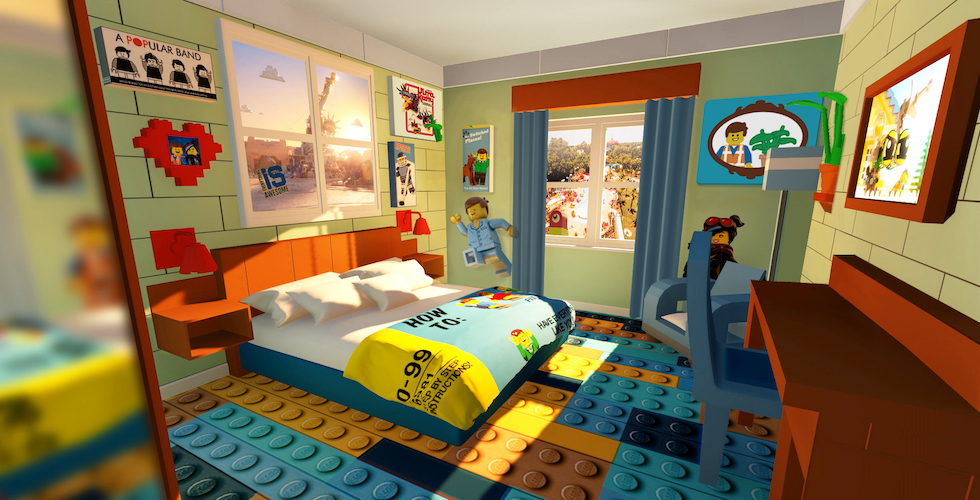 Room 2 Build Bedroom Kids Lego: New Lego Movie World-themed Rooms Now Available At