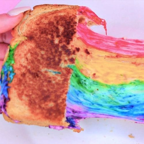Florida State Fair rainbow grilled cheese