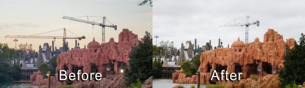 Harry Potter roller coaster