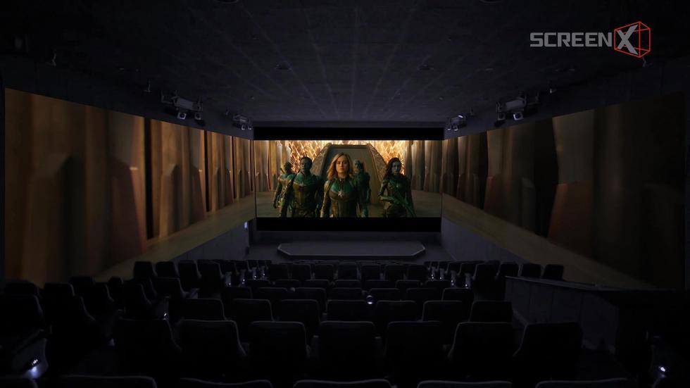 Captain Marvel in ScreenX