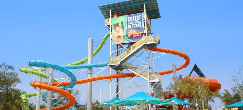 Aquatica San Antonio's newest slide Ihu's Breakaway Falls is now open