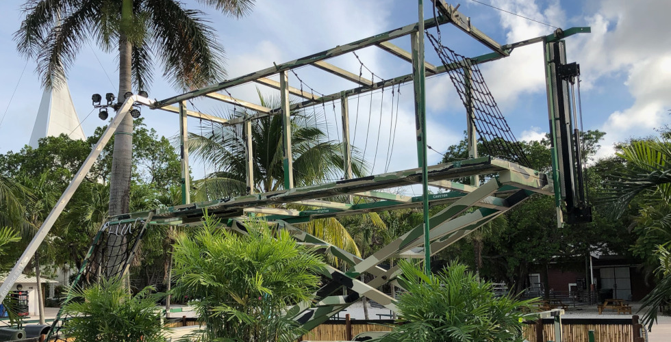 Jungle Island adventure bay climbing attraction