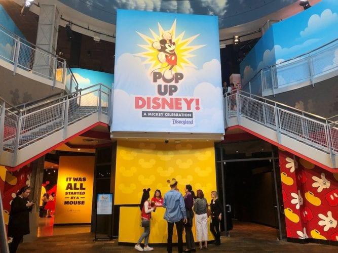 pop-up disney lobby