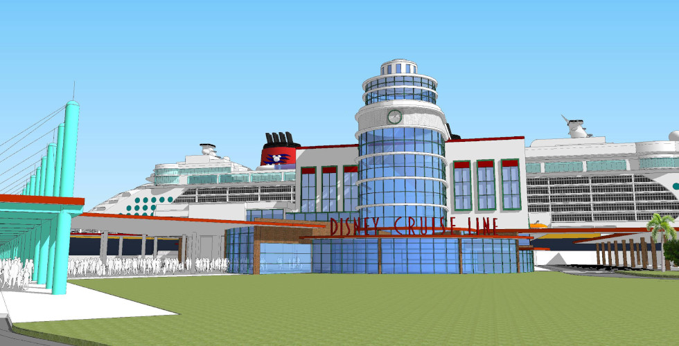 Disney Cruise Line Port Canaveral expansion concept art