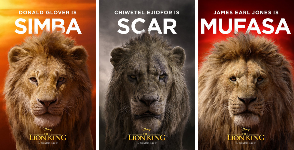Disney Releases Character Posters For Live Action The Lion