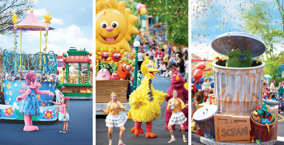 sesame street birthday party parade