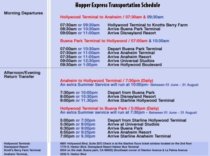 [Disneyland Resort] Tout savoir pour préparer son voyage - Page 25 Starline-hopper-express-schedule-669x500